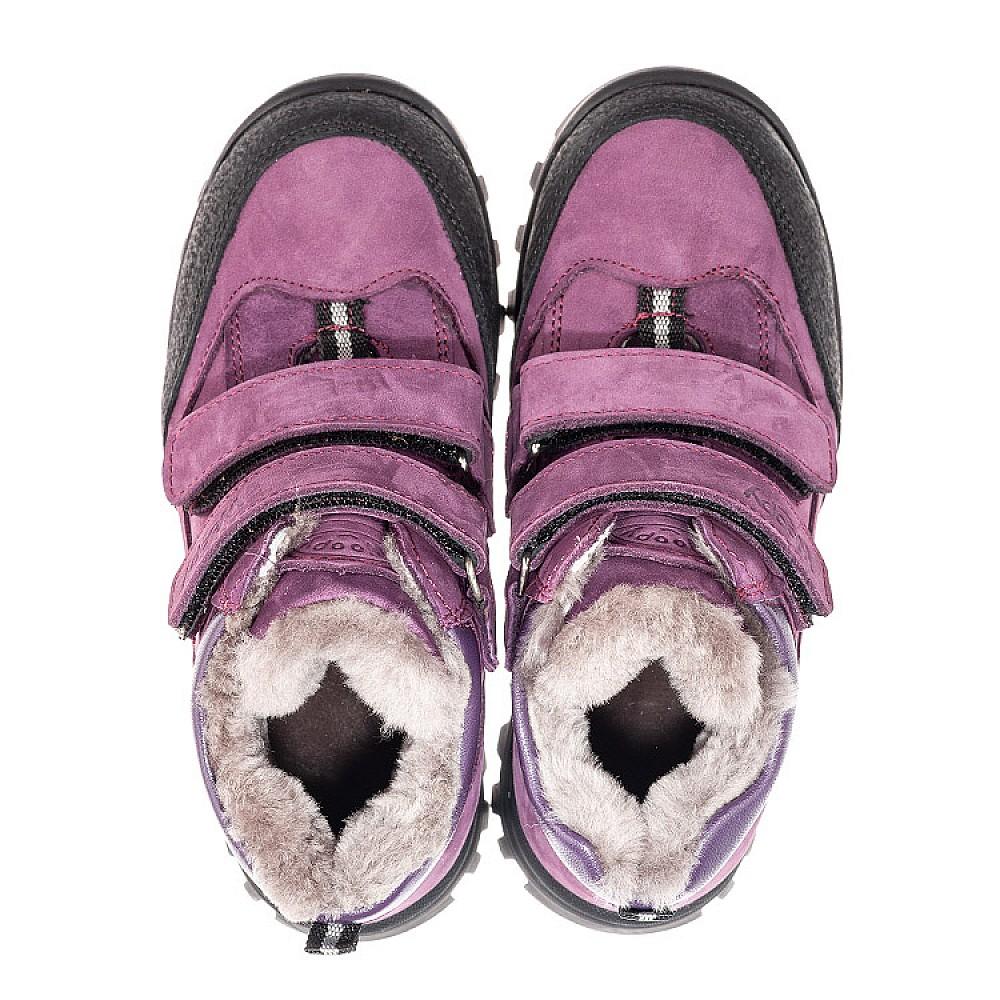 Детские зимние ботинки на меху Woopy Fashion фиолетовые для девочек натуральный нубук размер 24-36 (4421) Фото 5