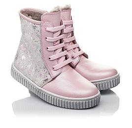 Детские зимние ботинки на меху Woopy Fashion розовые для девочек натуральная кожа размер 20-32 (4422) Фото 1