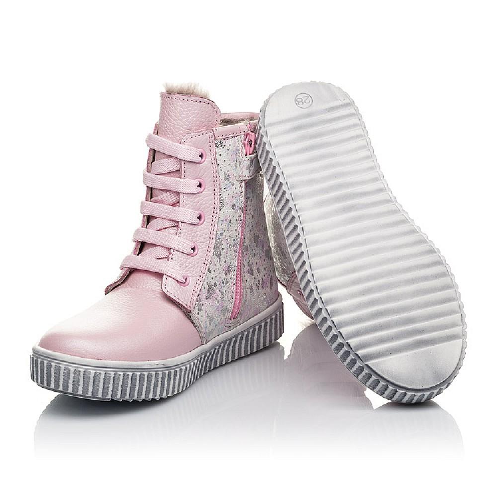 Детские зимние ботинки на меху Woopy Fashion розовые для девочек натуральная кожа размер 20-33 (4422) Фото 2