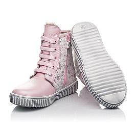 Детские зимние ботинки на меху Woopy Fashion розовые для девочек натуральная кожа размер 20-32 (4422) Фото 2