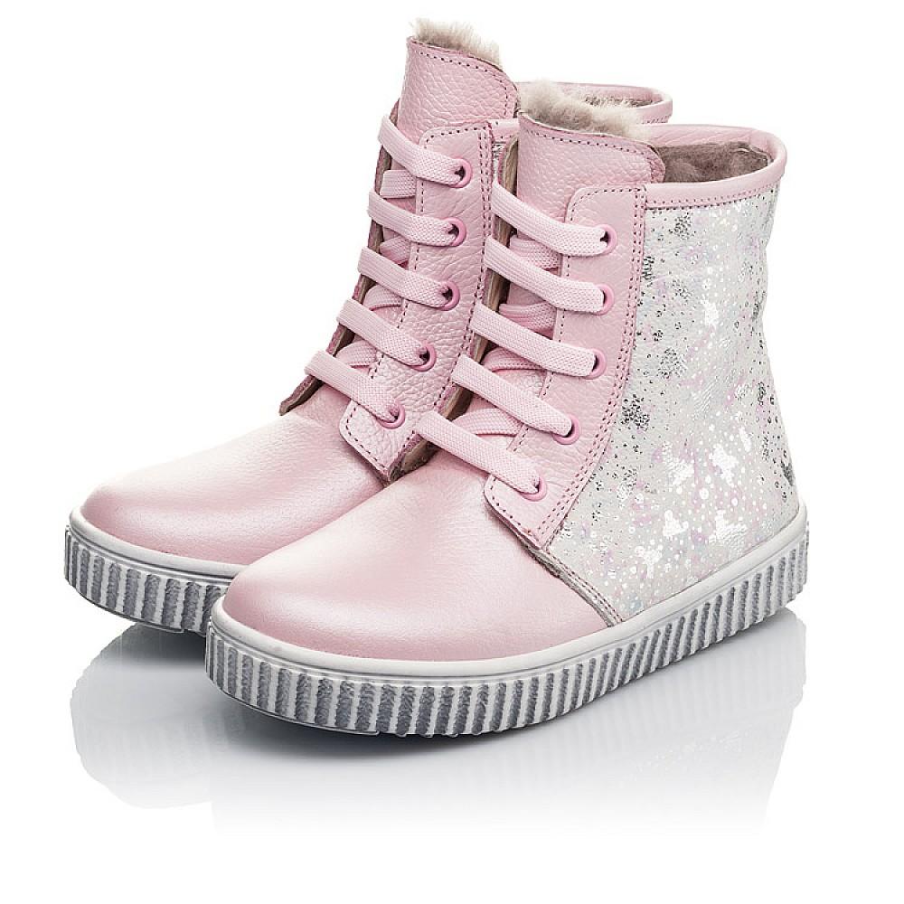 Детские зимние ботинки на меху Woopy Fashion розовые для девочек натуральная кожа размер 20-33 (4422) Фото 4