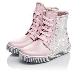 Детские зимние ботинки на меху Woopy Fashion розовые для девочек натуральная кожа размер 20-32 (4422) Фото 4