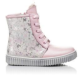 Детские зимние ботинки на меху Woopy Fashion розовые для девочек натуральная кожа размер 20-33 (4422) Фото 5