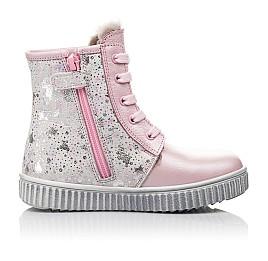 Детские зимние ботинки на меху Woopy Fashion розовые для девочек натуральная кожа размер 20-32 (4422) Фото 6