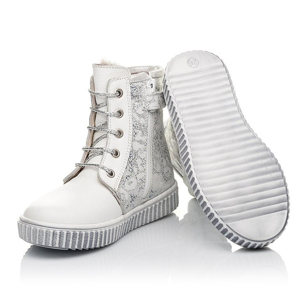 Детские зимние ботинки на меху Woopy Fashion белые для девочек натуральная кожа размер 20-33 (4424) Фото 2
