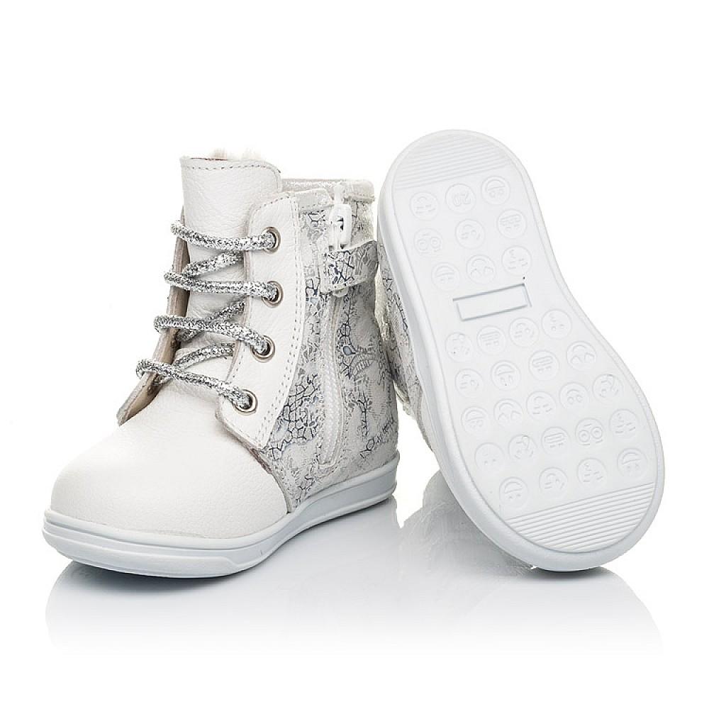 Детские зимние ботинки на меху Woopy Fashion белые для девочек натуральная кожа размер 20-33 (4424) Фото 3