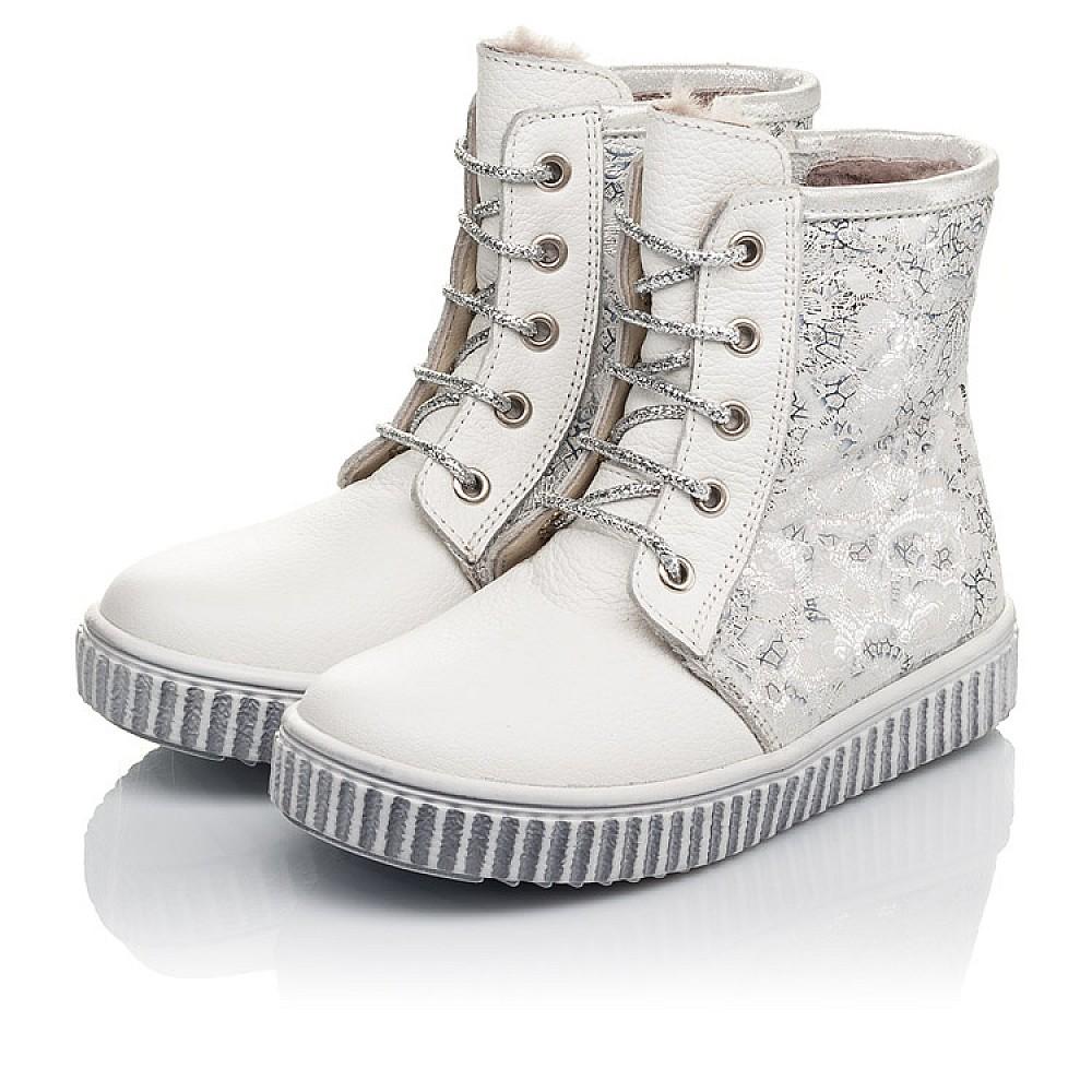 Детские зимние ботинки на меху Woopy Fashion белые для девочек натуральная кожа размер 20-33 (4424) Фото 4