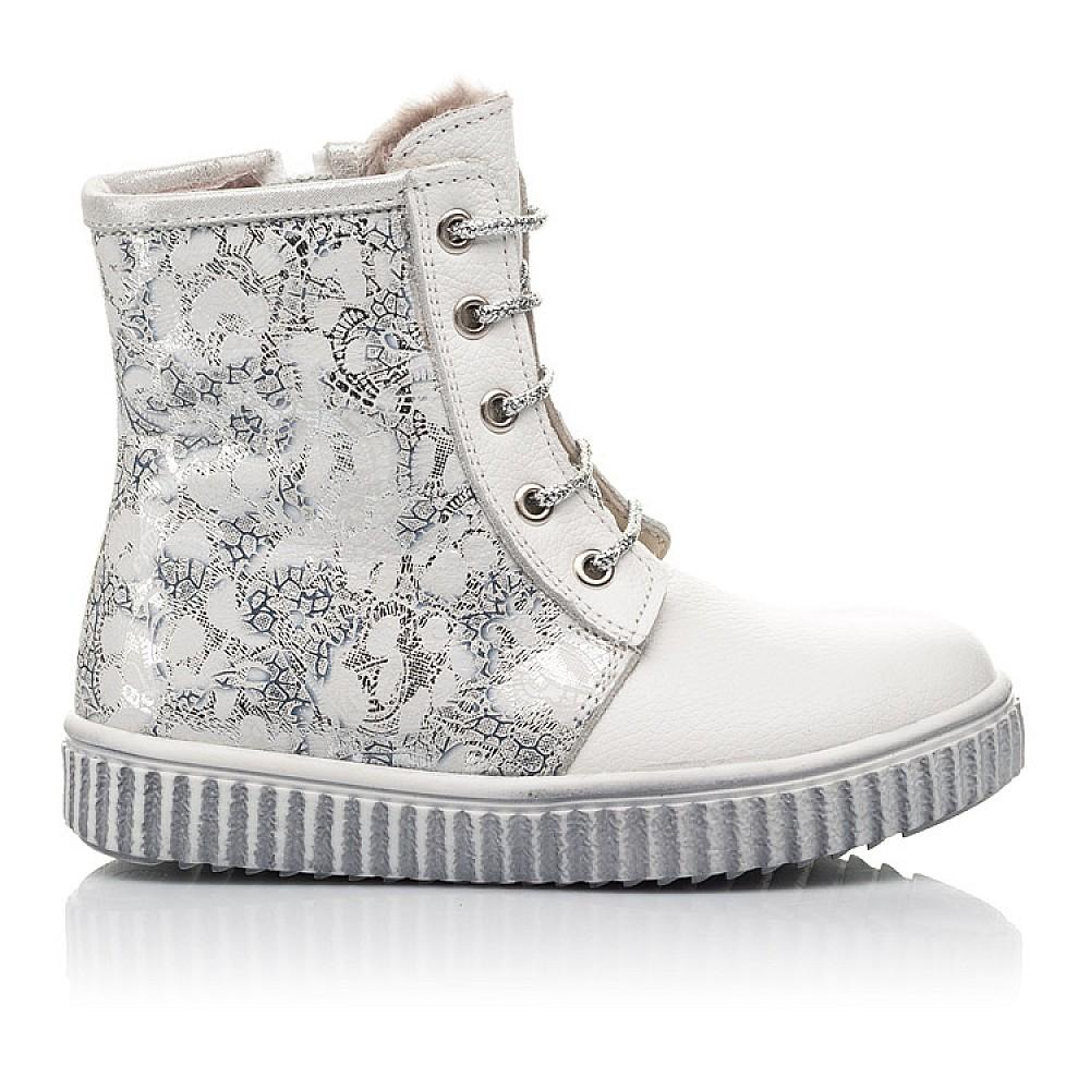 Детские зимние ботинки на меху Woopy Fashion белые для девочек натуральная кожа размер 20-33 (4424) Фото 5