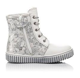Детские зимние ботинки на меху Woopy Fashion белые для девочек натуральная кожа размер 20-33 (4424) Фото 6