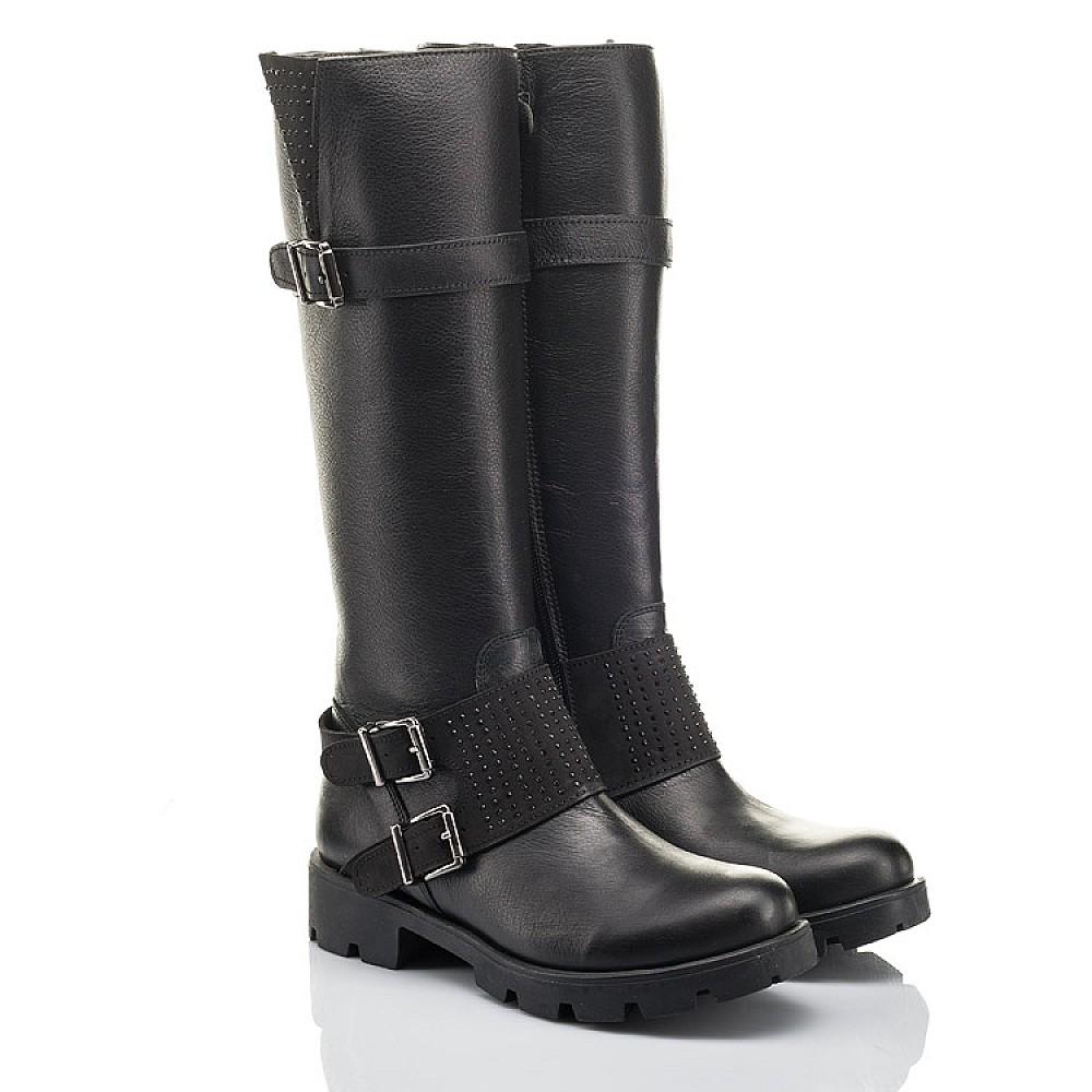 Детские демисезонные сапоги Woopy Fashion черные для девочек натуральная кожа размер 34-40 (4425) Фото 1