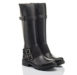 Детские демісезонні чоботи Woopy Fashion черные для девочек натуральная кожа размер 37-40 (4425) Фото 1