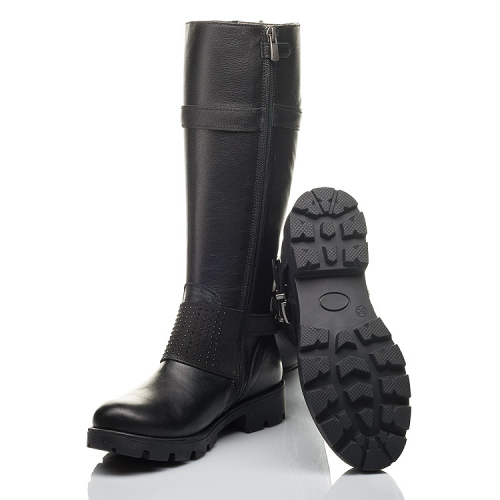 Детские демисезонные сапоги Woopy Fashion черные для девочек натуральная кожа размер 34-40 (4425) Фото 2