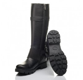 Детские демісезонні чоботи Woopy Fashion черные для девочек натуральная кожа размер 37-40 (4425) Фото 2
