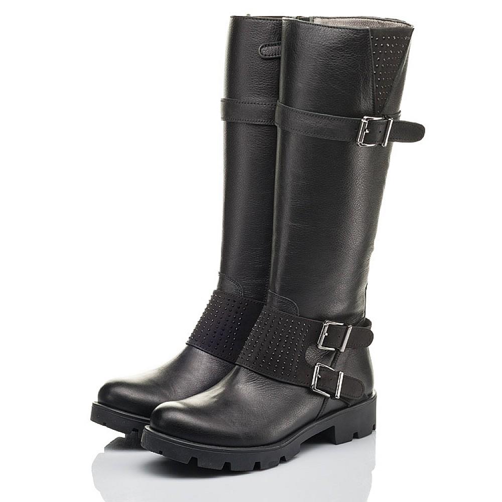 Детские демисезонные сапоги Woopy Fashion черные для девочек натуральная кожа размер 34-40 (4425) Фото 3