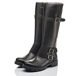 Детские демісезонні чоботи Woopy Fashion черные для девочек натуральная кожа размер 37-40 (4425) Фото 3
