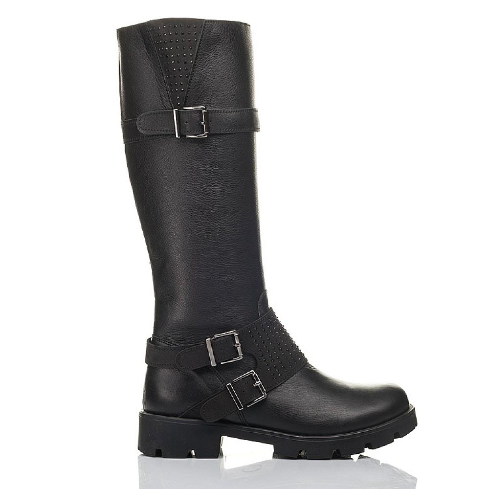 Детские демисезонные сапоги Woopy Fashion черные для девочек натуральная кожа размер 34-40 (4425) Фото 4