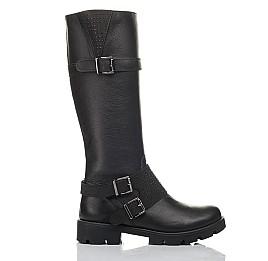 Детские демісезонні чоботи Woopy Fashion черные для девочек натуральная кожа размер 37-40 (4425) Фото 4
