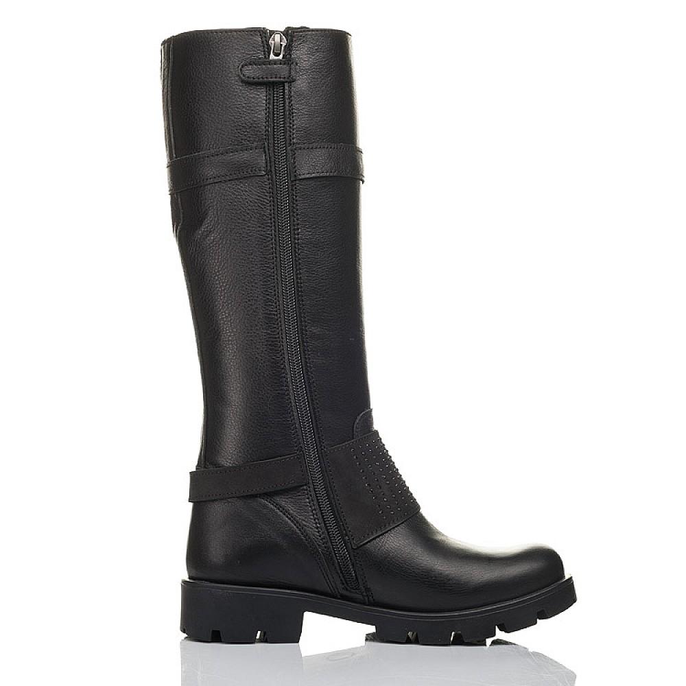Детские демисезонные сапоги Woopy Fashion черные для девочек натуральная кожа размер 34-40 (4425) Фото 5
