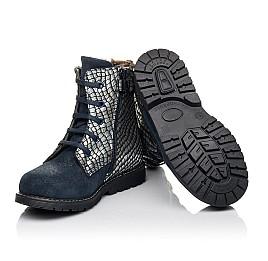 Детские зимние ботинки на меху Woopy Fashion синие для девочек натуральный нубук размер 20-38 (4427) Фото 2