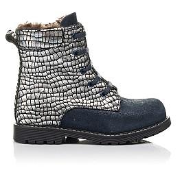 Детские зимние ботинки на меху Woopy Fashion синие для девочек натуральный нубук размер 20-38 (4427) Фото 4
