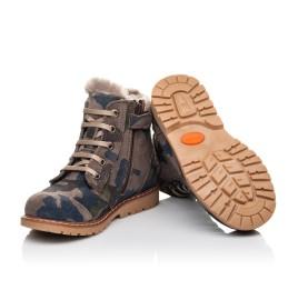 Детские зимові черевики на хутрі Woopy Fashion разноцветные для мальчиков натуральный нубук размер 21-27 (4428) Фото 2