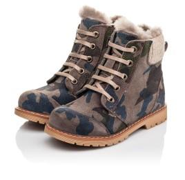 Детские зимние ботинки на меху Woopy Fashion разноцветные для мальчиков натуральный нубук размер 21-32 (4428) Фото 3