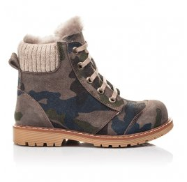 Детские зимние ботинки на меху Woopy Fashion разноцветные для мальчиков натуральный нубук размер 21-32 (4428) Фото 4