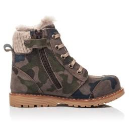 Детские зимові черевики на хутрі Woopy Fashion разноцветные для мальчиков натуральный нубук размер 21-27 (4428) Фото 5