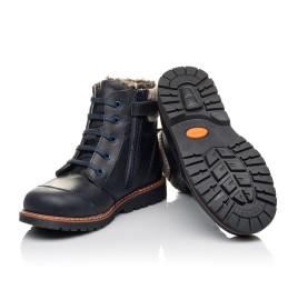 Детские зимние ботинки на меху Woopy Fashion синие для мальчиков натуральная кожа размер 31-38 (4429) Фото 2