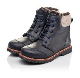 Детские зимові черевики на хутрі Woopy Fashion синие для мальчиков натуральная кожа размер 31-31 (4429) Фото 3