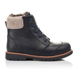Детские зимние ботинки на меху Woopy Fashion синие для мальчиков натуральная кожа размер 31-38 (4429) Фото 4