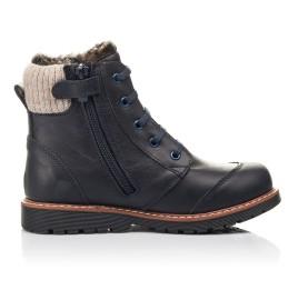 Детские зимние ботинки на меху Woopy Fashion синие для мальчиков натуральная кожа размер 31-38 (4429) Фото 5