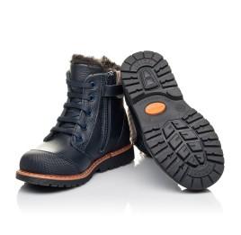Детские зимние ботинки на меху Woopy Fashion синие для мальчиков натуральная кожа размер 21-31 (4430) Фото 2