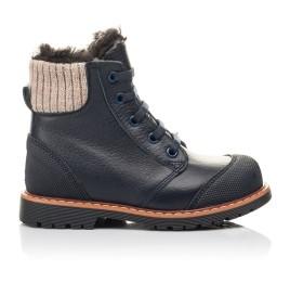 Детские зимние ботинки на меху Woopy Fashion синие для мальчиков натуральная кожа размер 21-31 (4430) Фото 4