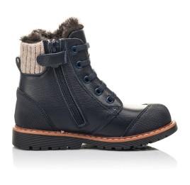 Детские зимние ботинки на меху Woopy Fashion синие для мальчиков натуральная кожа размер 21-31 (4430) Фото 5