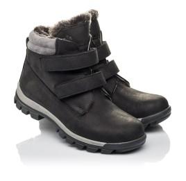 Детские зимние ботинки на меху Woopy Fashion черные для мальчиков натуральная кожа размер 34-40 (4431) Фото 1