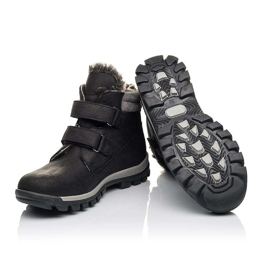 Детские зимние ботинки на меху Woopy Fashion черные для мальчиков натуральная кожа размер 34-40 (4431) Фото 2