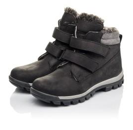Детские зимние ботинки на меху Woopy Fashion черные для мальчиков натуральная кожа размер 34-40 (4431) Фото 3