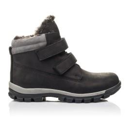 Детские зимние ботинки на меху Woopy Fashion черные для мальчиков натуральная кожа размер 34-40 (4431) Фото 4