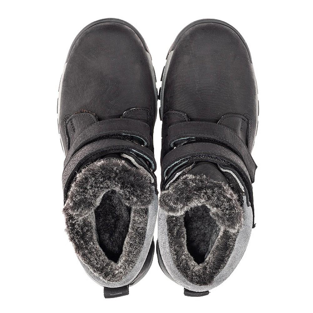Детские зимние ботинки на меху Woopy Fashion черные для мальчиков натуральная кожа размер 34-40 (4431) Фото 5