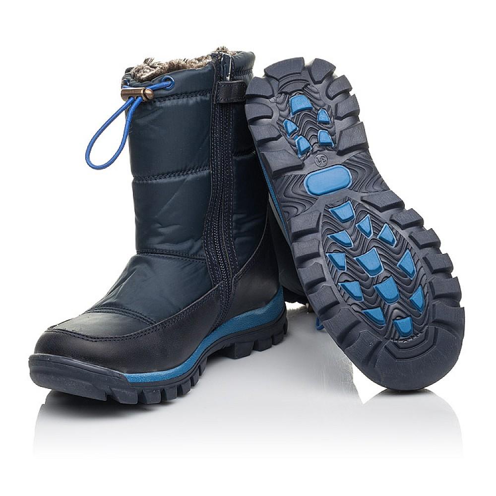 Детские зимние ботинки на меху Woopy Fashion синие для мальчиков искуственный материал и натуральный нубук размер 30-39 (4432) Фото 2