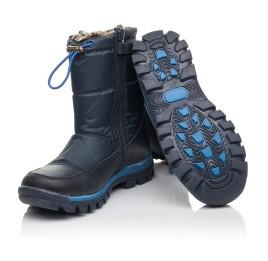 Детские зимние ботинки на меху Woopy Fashion синие для мальчиков искуственный материал и натуральный нубук размер 30-38 (4432) Фото 2