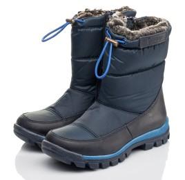 Детские зимові черевики на хутрі Woopy Fashion синие для мальчиков искуственный материал и натуральный нубук размер 30-38 (4432) Фото 3