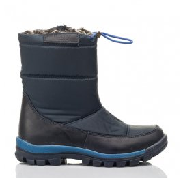 Детские зимові черевики на хутрі Woopy Fashion синие для мальчиков искуственный материал и натуральный нубук размер 30-38 (4432) Фото 4