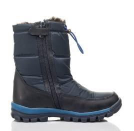 Детские зимние ботинки на меху Woopy Fashion синие для мальчиков искуственный материал и натуральный нубук размер 30-39 (4432) Фото 5