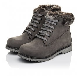 Детские зимові черевики на хутрі Woopy Fashion серые для мальчиков натуральный нубук размер 30-32 (4433) Фото 3