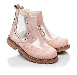 Детские демісезонні черевики Woopy Fashion пудровые для девочек натуральный нубук размер 24-36 (4434) Фото 1