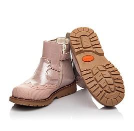 Детские демісезонні черевики Woopy Fashion пудровые для девочек натуральный нубук размер 24-36 (4434) Фото 2