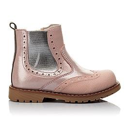 Детские демісезонні черевики Woopy Fashion пудровые для девочек натуральный нубук размер 24-36 (4434) Фото 4