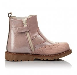 Детские демісезонні черевики Woopy Fashion пудровые для девочек натуральный нубук размер 24-36 (4434) Фото 5